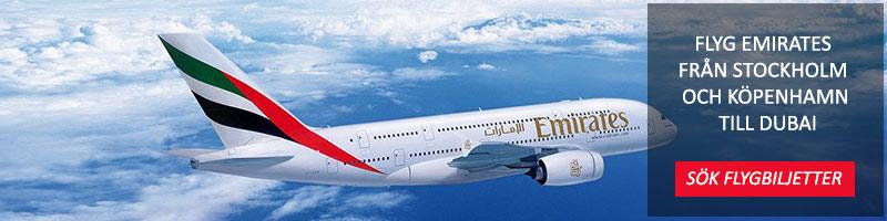 Flyg Emirates från Stockholm till Dubai