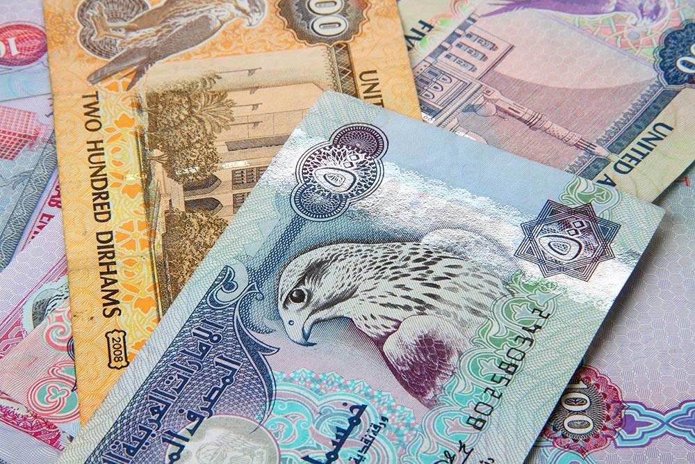 Valuta och pengar i Dubai - dirham