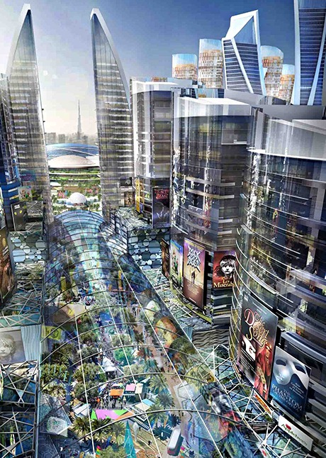 Ny stad – glastäckt och klimatkontrollerad