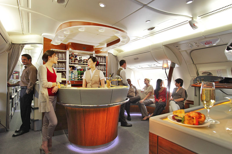 Emirates A380 On-board Lounge