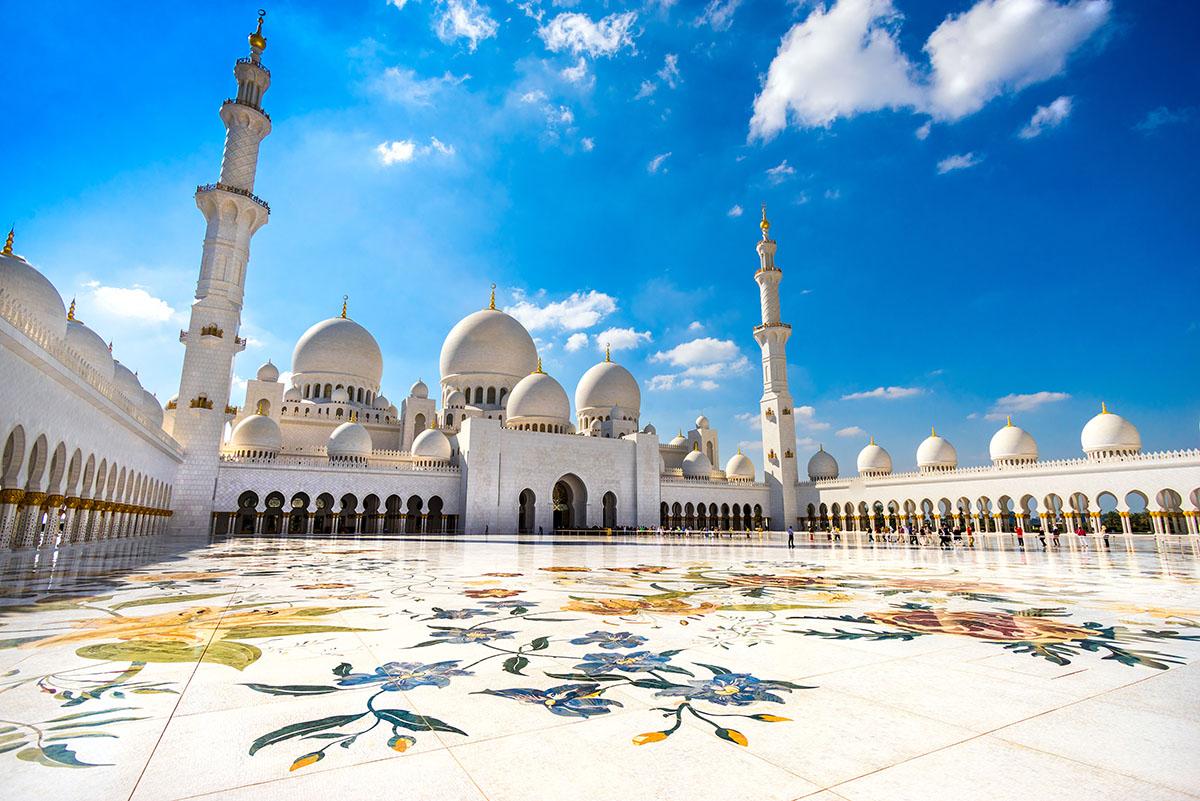 Sheikh Zayed Mosque Abu Dhabi Dubai dagstur