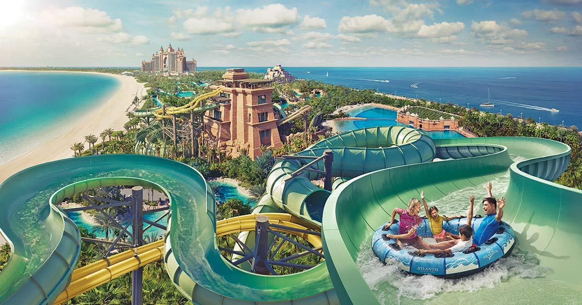 Aquaventure - vattenpark i Dubai