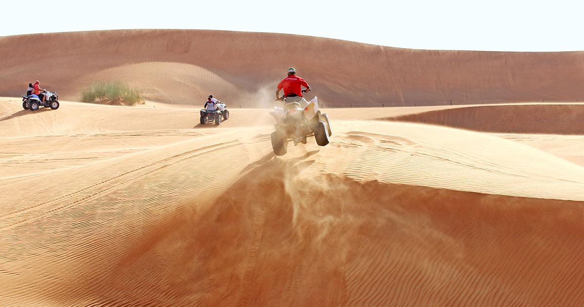 Ökentur med fyrhjuling i Dubai