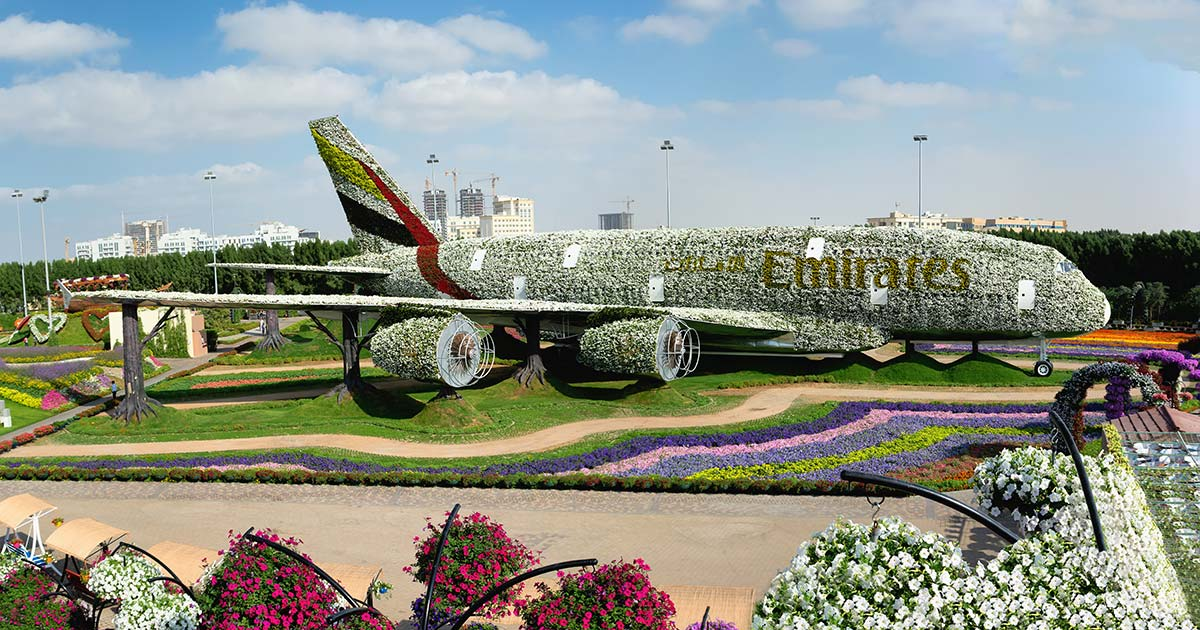 Dubai Miracle Garden Airbus A380
