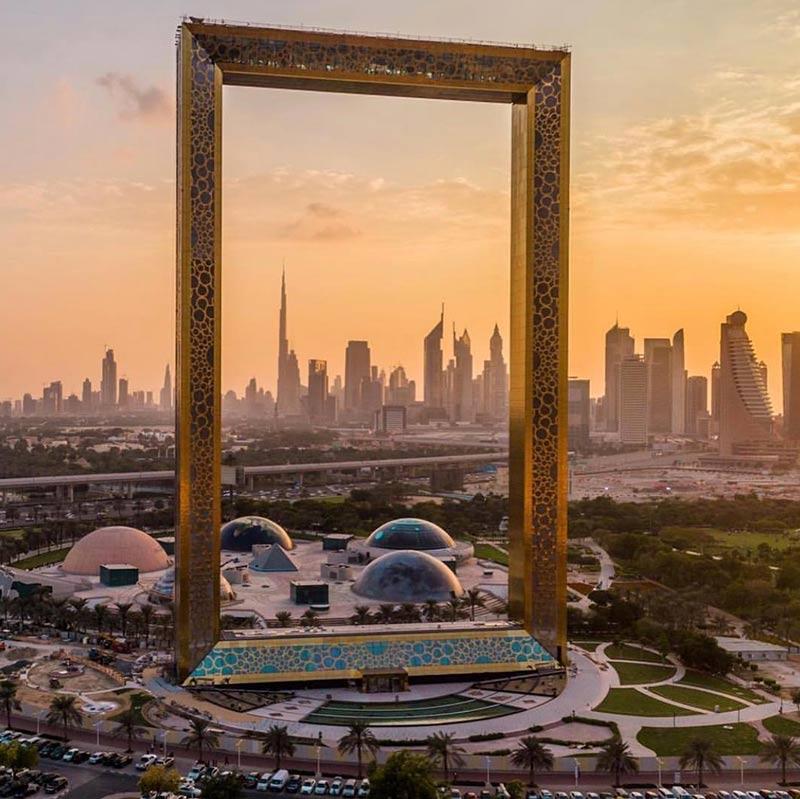 Dubai Frame (Foto: Instagram/hsn37)