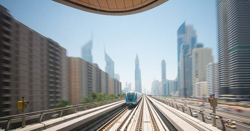 Dubai Metro - tunnelbana i Dubai