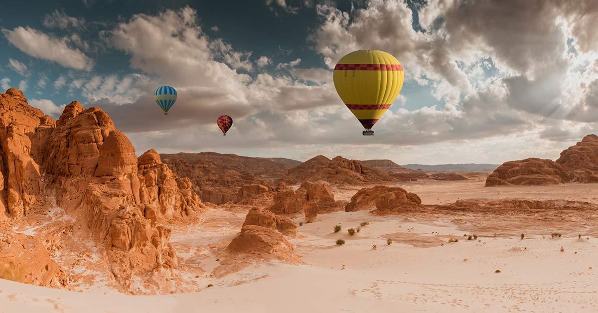 Flyga luftballong i Dubai