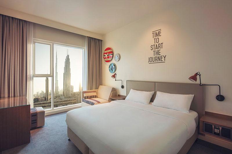 Rove Hotel är ett exempel på billiga hotell i Dubai